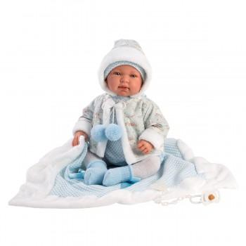 Hiszpańska lalka bobas chłopiec Tino 44cm - płaczący