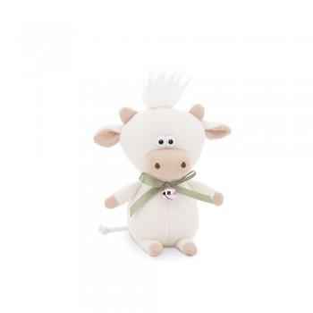 Przytulanka cielaczek Moo z dzwoneczkiem Biały 19cm