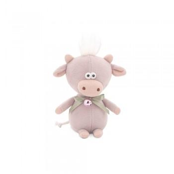 Przytulanka cielaczek Moo z dzwoneczkiem Beżowy 19cm