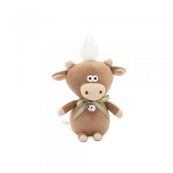 Przytulanka cielaczek Moo z dzwoneczkiem Brązowy 19cm