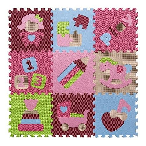 Piankowe puzzle podłogowe Świat Zabawek różowy – 51 elementów