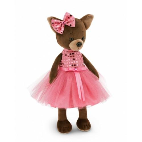 Przytulanka piesek Lucky Kiki w sukience z cekinami - 38cm