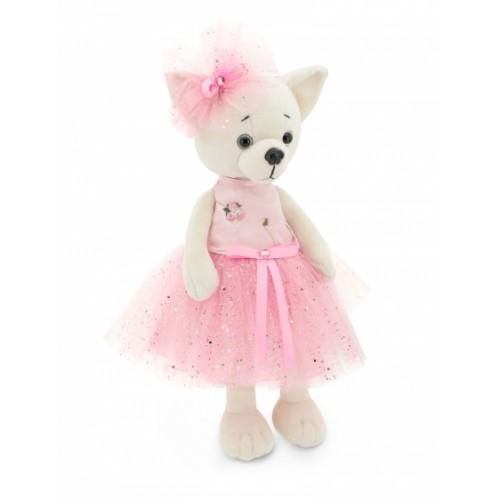 Przytulanka piesek Lucky Lili w różowej sukience - 38cm