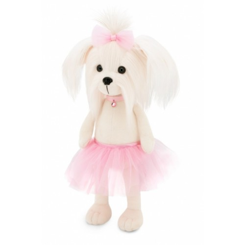 Przytulanka piesek Lucky Mimi w różowej spódniczce- 38cm